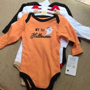 Hudson Baby My First Holiday 4 piece Bodysuits NWT